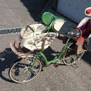 アンジェリーノ 子供乗せ自転車 3人乗 グリーン