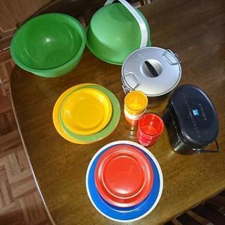 キャンプ バーベキュー用 皿&飯盒&鍋 セット