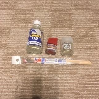 うすめ液 空き瓶 筆 塗料 タミヤほか