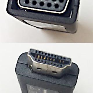 【美品】HDMI-VGA変換アダプタ(HDMI Aオス-VGAメ...