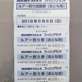 西武園ゆうえんち フィッシングランド/ルアー釣り回数券 4回分