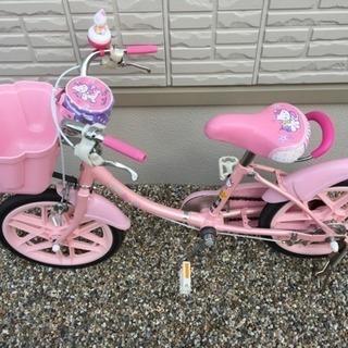 【美品】子供用自転車 16インチ ブリヂストン ハローキティ