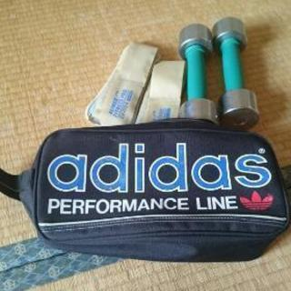 adidasシューズバッグ、ダンベル、ウエイトリスト