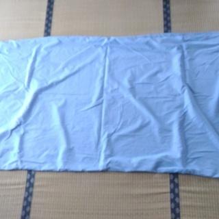 布団シーツ・3点セット(敷ふとん・掛ふとん・枕)・シングルロング・水色