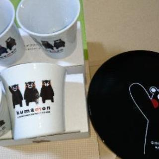 相模原駅■くまもんI Love 熊本■漆器お盆とペアカップを2組...
