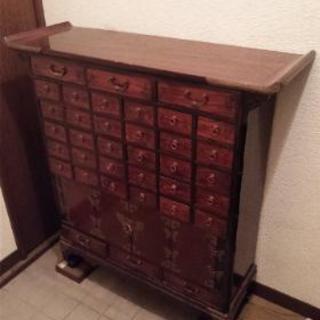 アンティーク 中国 薬棚 薬箱 小引き出し 箪笥