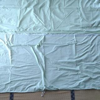 布団シーツ・3点セット(敷ふとん・掛ふとん・枕)・シングルロング・緑色④