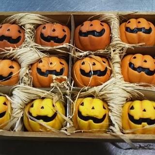 ハロウィン、かぼちゃ12個入り(陶器)
