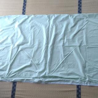 布団シーツ・3点セット(敷ふとん・掛ふとん・枕)・シングルロング・緑色⑤