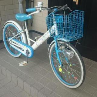 20インチの女の子用自転車になります。