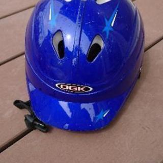 子ども自転車ヘルメット青