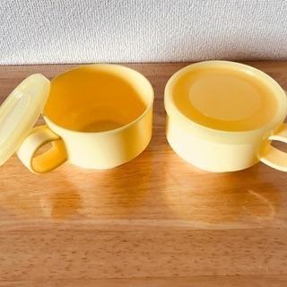 プラスチック製カップ(フタ付)