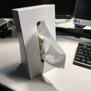 【値下げ】縦置き スタイリッシュ ティッシュケース 白 ホワイト
