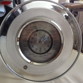 HOYA ガラス置き時計 世界時計