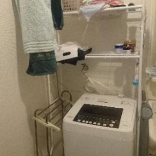 洗濯機+タオルラック+タオルかけセット