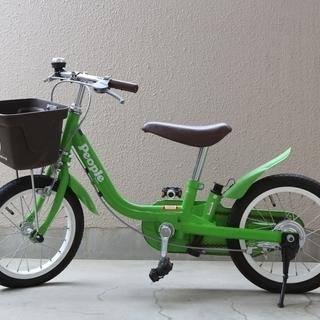 ★peopleの子供自転車★14インチ<かじとり式>カラーきみど...