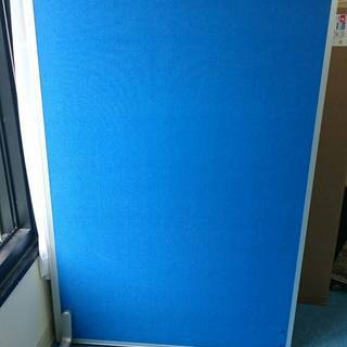 [無料]オフィス用パーテーション(青)大小2枚差し上げます