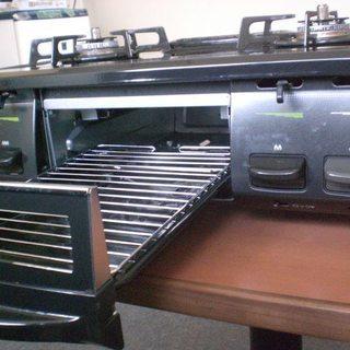ガスコンロ2014製 リンナイKGE61BL(NO.140) - 家電
