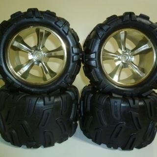 ビッグタイヤ、HPI、サベージ、モントラ用タイヤ、ハブ14mm