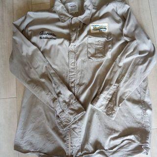 激安❢美品❢委託❢有名メーカー長袖シャツ4L綺麗なベージュ色❢