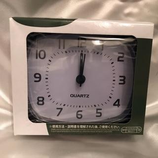 【送料無料!】シンプル目覚まし時計 旅行のお供に♪  四角、BLACK
