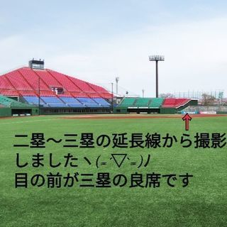 7/3 楽天vsソフトバンク内野最前列はるか夢球場 大人3枚一組