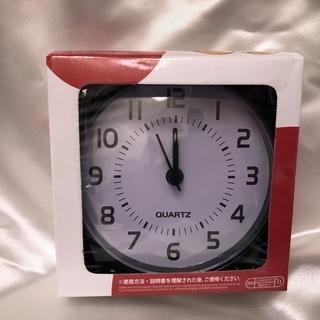【送料無料!】シンプル目覚まし時計 旅行のお供に♪  丸型、BLACK
