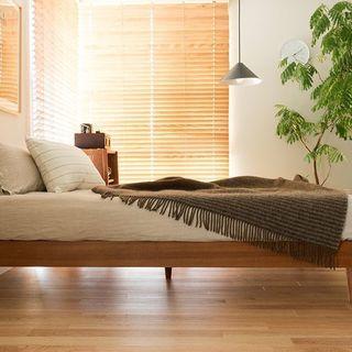 新品・未使用 シングル 木製ベッド...