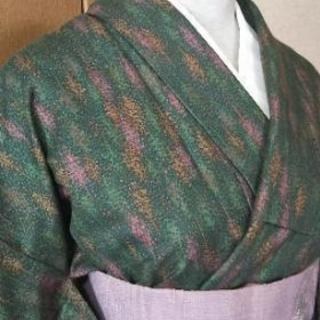👘正絹 染紬 単衣  ★小紋 美品