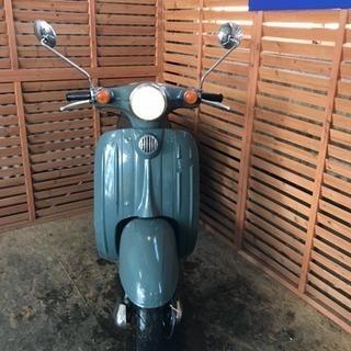 バイク屋さんで整備されたヴェルデ