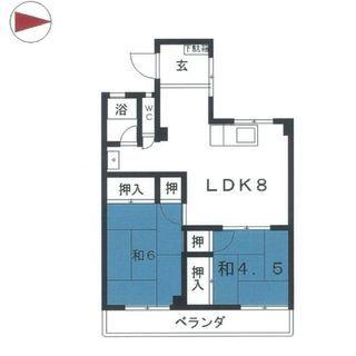 7月限定 2LDK 初期費用5万円のみ🈚仲介手数料無料🚉東山線岩塚...