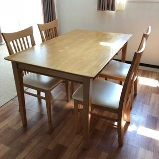 『値下げ』ダイニングテーブル&椅子4脚