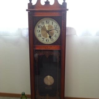 決まりました☆セイコー クォーツ 振り子時計 柱時計 掛け時計 ...