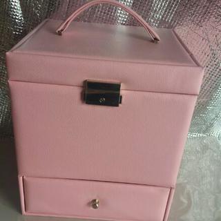 💴⤵値下げ🎵鍵付き メイクBOX ピンク 新品