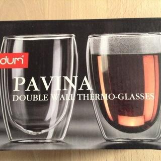 【未使用品】bodum PAVINA ダブルウォールグラス