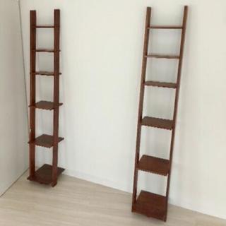 美品 はしご型ブックシェルフ