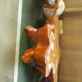 木彫り テーブル 木の根