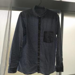 GLOBAL WORK 青チェックシャツ