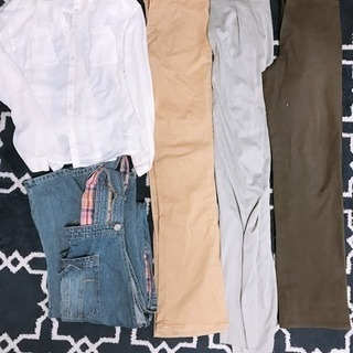 【M〜L】背が高い方専用 ズボンもオーバーオールも長い  ⑦