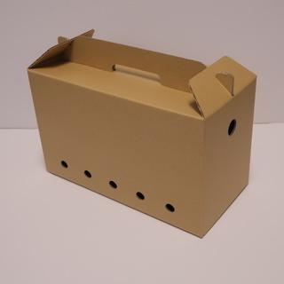 猫かご、丈夫な段ボール製、軽いペット用通い箱、子猫運送かご…