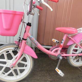女の子自転車 16インチ 補助輪つき  値下げ!