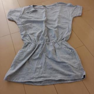 ☆肩出し☆半袖☆Tシャツ☆ワンピ☆グレー☆Lサイズ☆