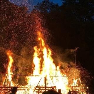増富ラジウム温泉 火祭り