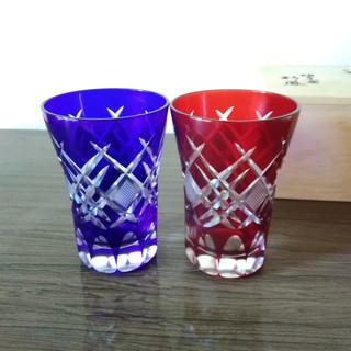 【宅配可】伝統工芸品「江戸切子」のペアグラス