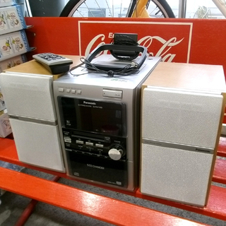 札幌市 パナソニック MD/5CD/カセット/ラジオ ミニコンポ...