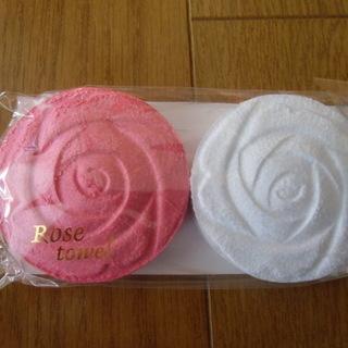 《値下げ》 バラの花 圧縮タオル 未使用品