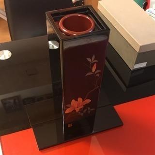 会津塗り 花入 茶器