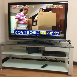 レグザ42型+ハードディスク2TB+DVDプレーヤ+TV台(価格...