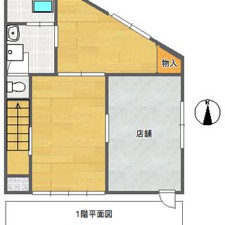 大分市泉町の店舗付き戸建4DK・動物可・入居費0プランの後家賃プラン。