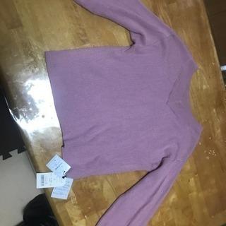 未使用☆オフショルダーピンク色セーター